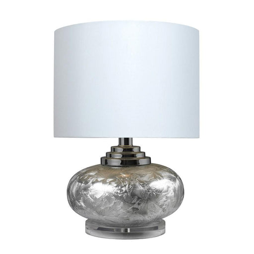 "Dimond Lighting 20"" Frosted Finish Table Lamp, Silver"