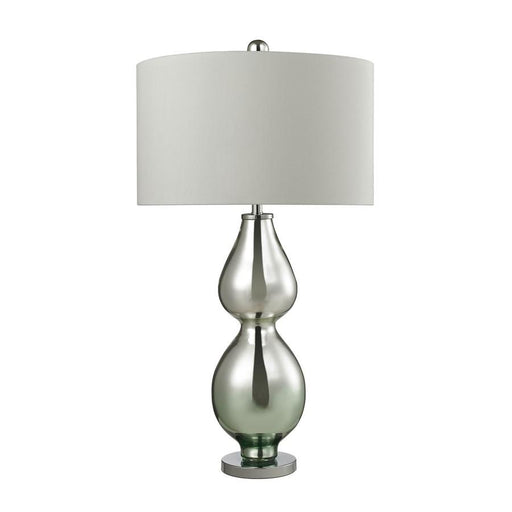 "Dimond Lighting 31"" Double Gourd Table Lamp, Light Green Mercury"