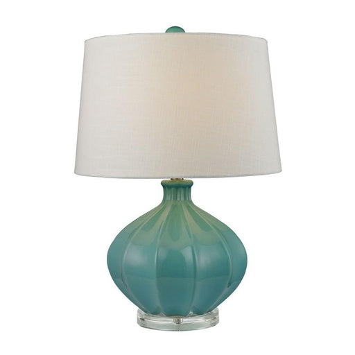 "Dimond Lighting 24"" Organic Ceramic Table Lamp, Seafoam Glaze"