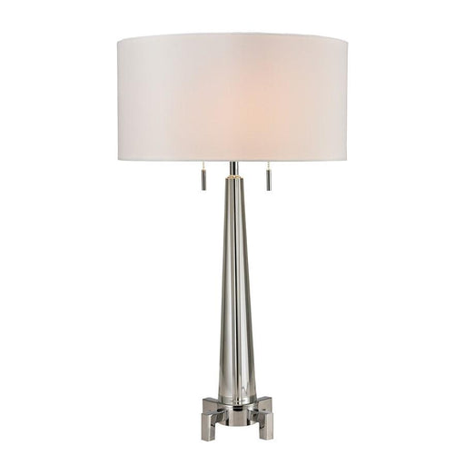 "Dimond Lighting 30"" Bedford Solid Crystal Table Lamp, Polished Chrome"