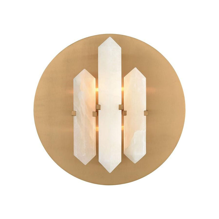 Dimond Lighting 2 Light Annees Folles Wall Sconce, White/Aged Brass