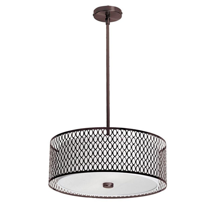 Dainolite 3 Light Pendant with Laser Cut Shade