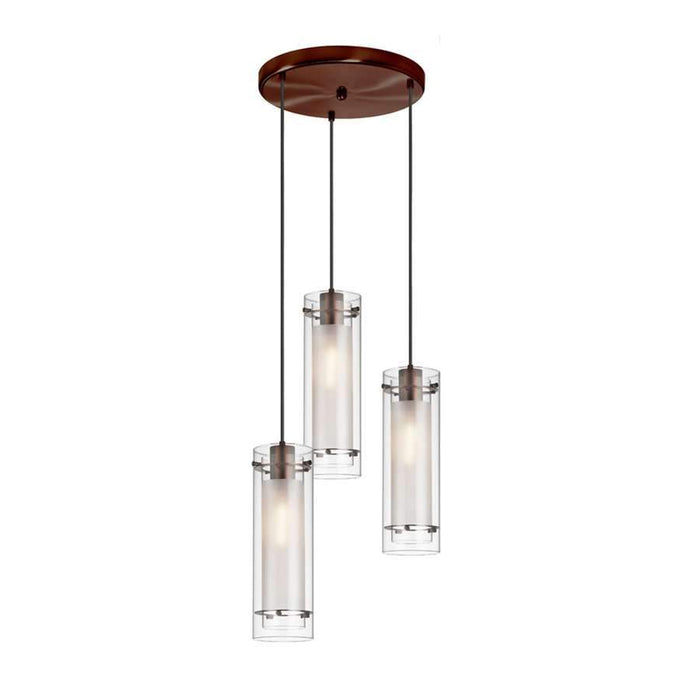 Dainolite 3 Light Round Pendant, Oil Brushed Bronze