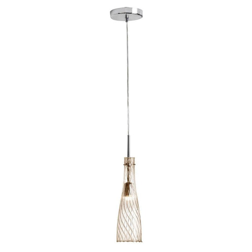 Dainolite 1 Light Elongated Pendant, Polished Chrome
