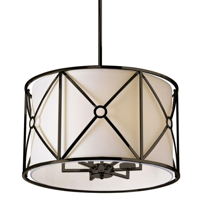 Dainolite Cruz Steel & Fabric Pendant
