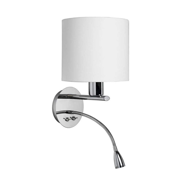 Dainolite Wall Sconce w/ Gooseneck LED Reading Lamp