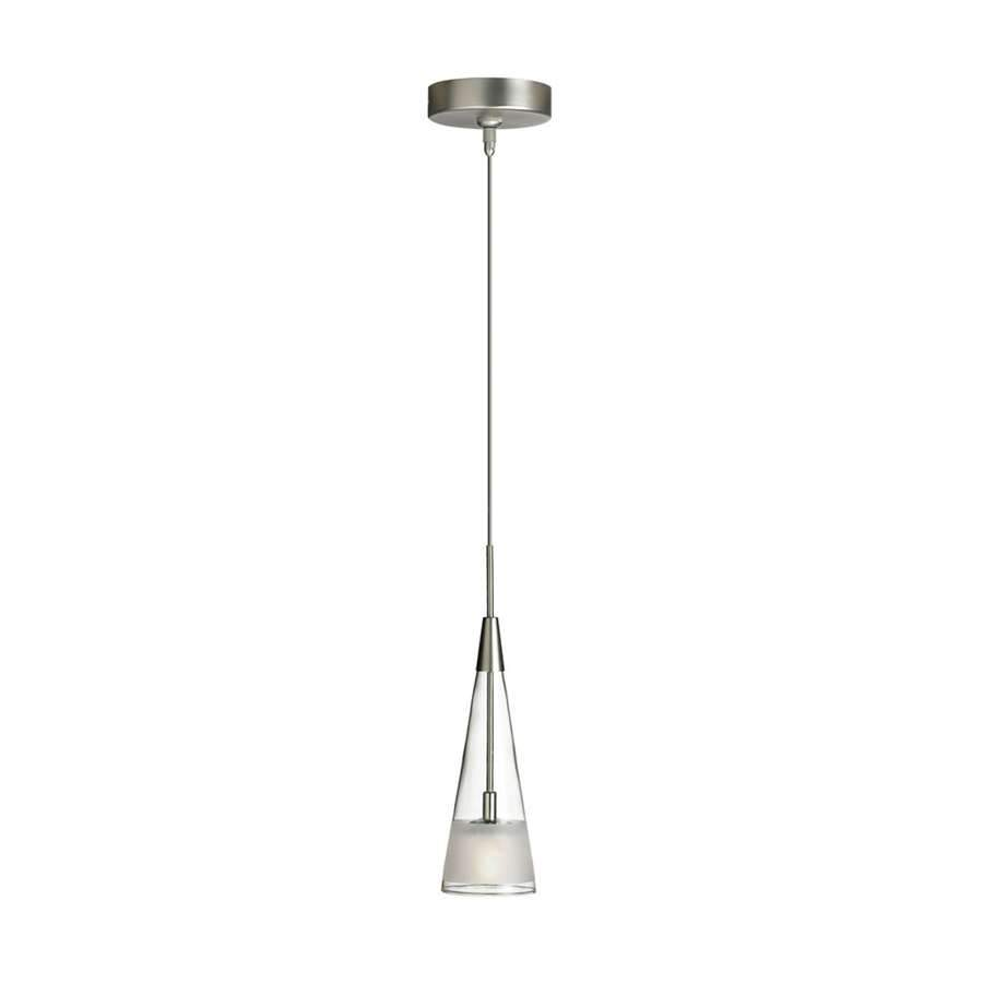 Dainolite 1 Light Pendant, Clear Frosted Glass
