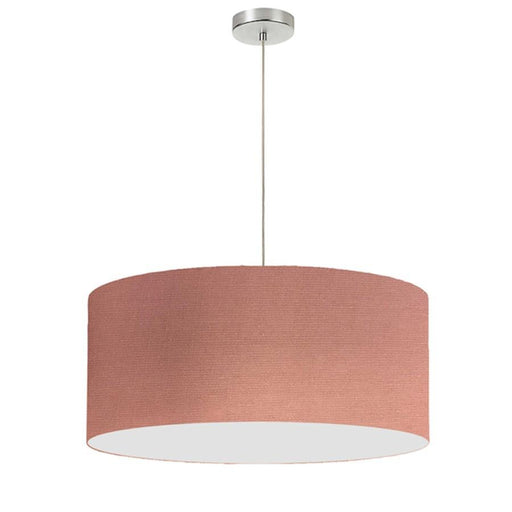 Dainolite 1 Light Drum Shade Pendant, 24""