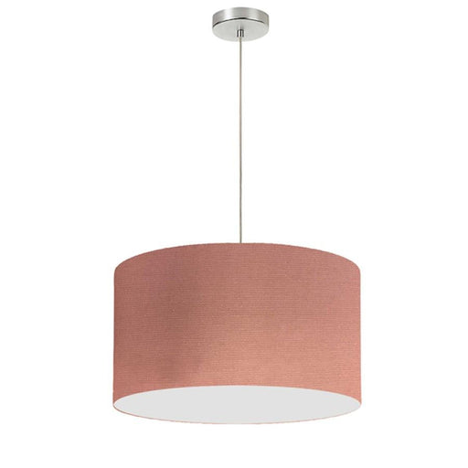 Dainolite 1 Light Drum Shade Pendant, 19""
