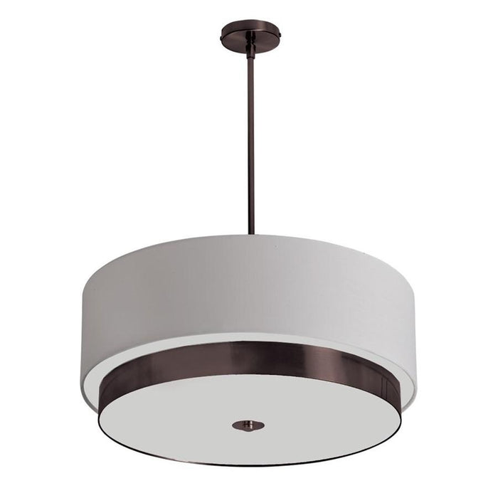 Dainolite 4 Light Pendant, Bronze/White