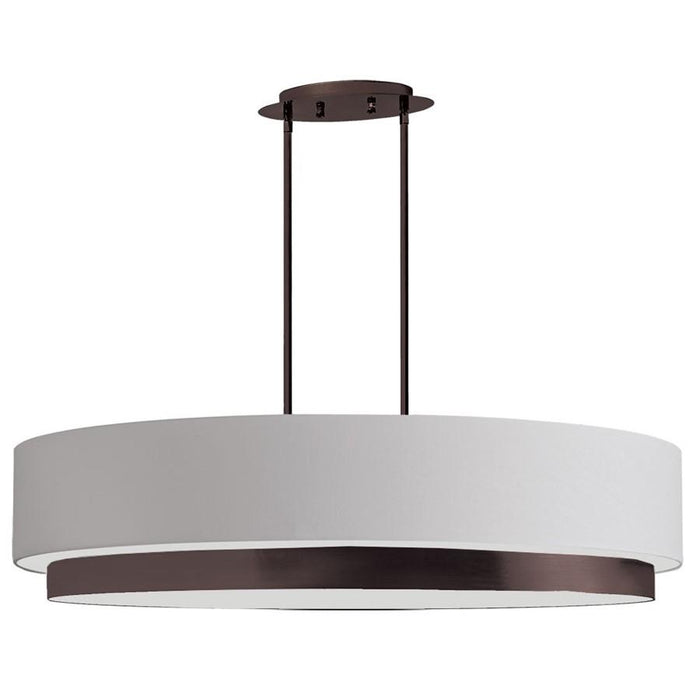 Dainolite 4 Light Oval Pendant, Vintage Oiled Brushed Bronze