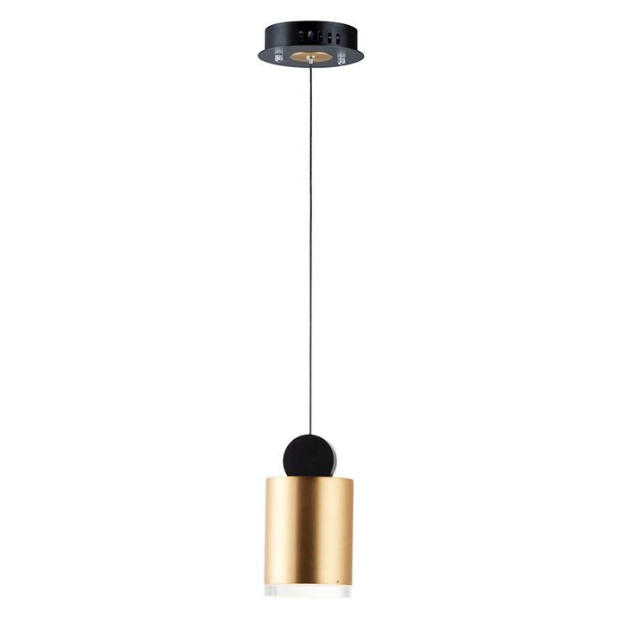 ET2 Lighting Nob LED 1 Light Pendant, Black/Gold