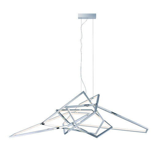 ET2 Lighting Trapezoid LED Pendant, Polished Chrome