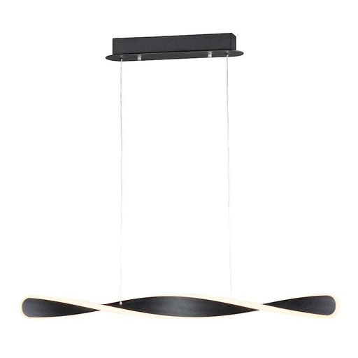 ET2 Lighting Pirouette 1-Light Small LED Linear Pendant, Black