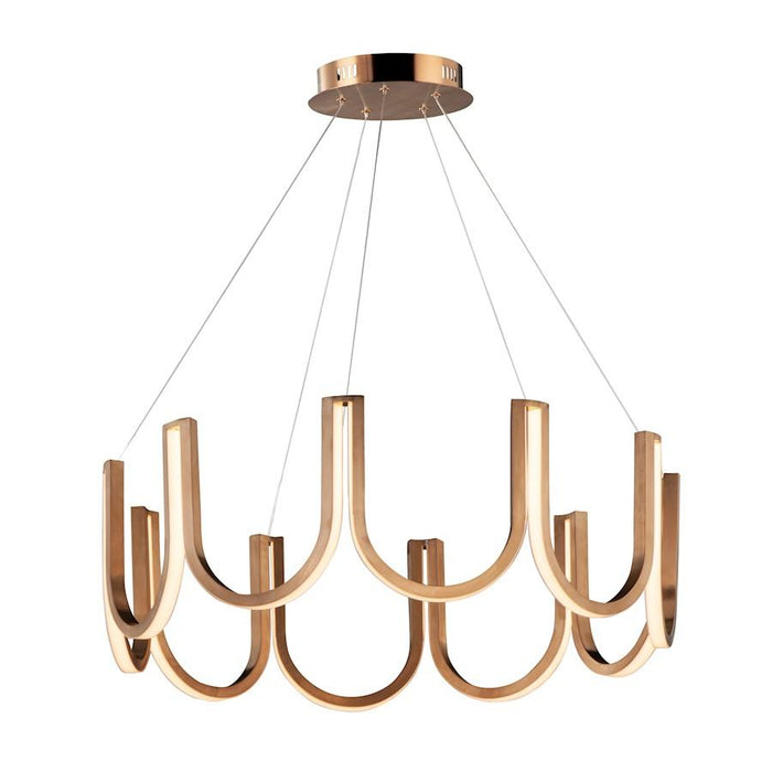 ET2 Lighting You LED Pendant, Brushed Champagne