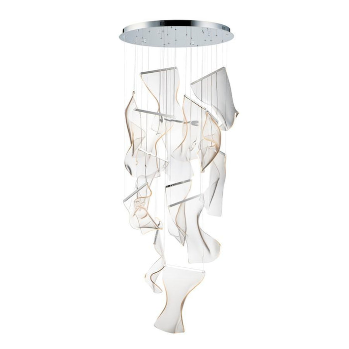 ET2 Lighting Rinkle LED Pendant, Polished Chrome