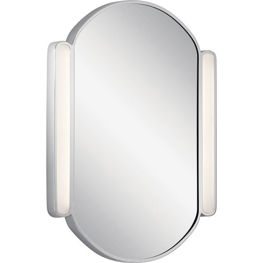 Elan Phaelan Lighted Mirror, Chrome