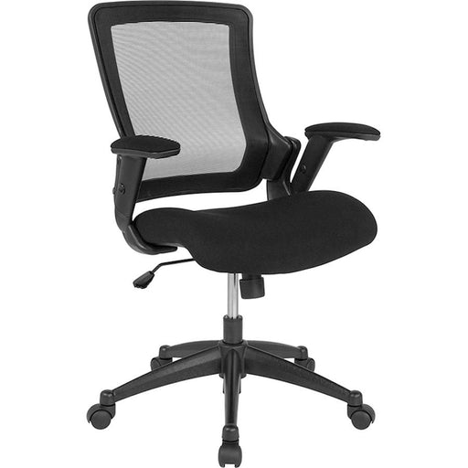 Flash Furniture Mid-Back Black Mesh Swivel Office Chair, Adj Arms