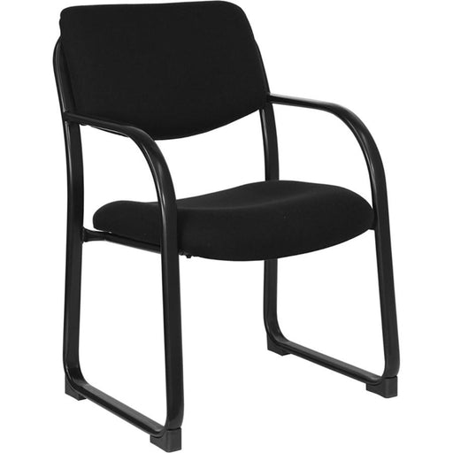 Flash Furniture Black Fabric Side Chair