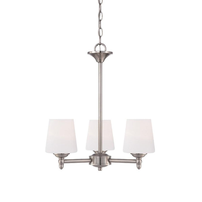 Designers Fountain Darcy Chandelier, Brushed Nickel