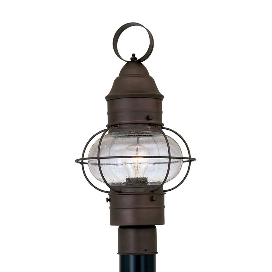 "Designers Fountain Nantucket 10"" Post Lantern, Rustique"