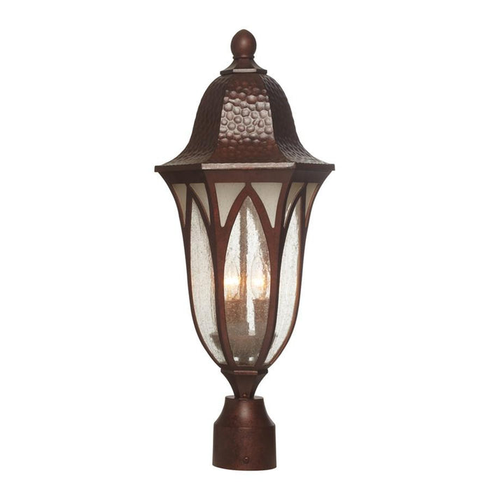 "Designers Fountain Berkshire 9"" Post Lantern, Antique Copper"