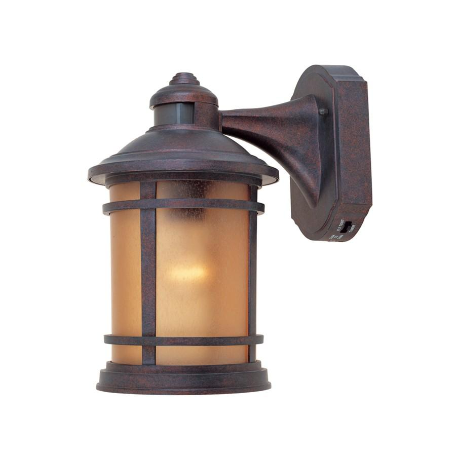 "Designers Fountain Sedona 7"" Wall Lantern with Motion Detector"