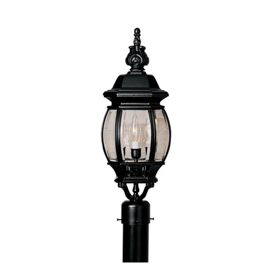 "Designers Fountain Riviera 7"" Post Lantern, Black"