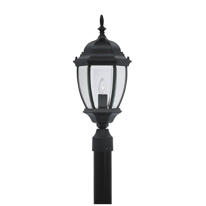 Designers Fountain Tiverton Post Lantern, Black