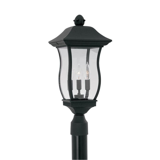 "Designers Fountain Chelsea 9"" Post Lantern, Black"