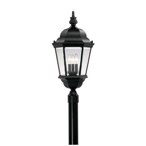 "Designers Fountain Builder Cast Aluminum 13"" Post Lantern, Black"
