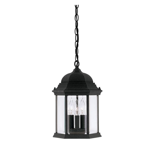 "Designers Fountain Devonshire 9"" Hanging Lantern, Black"
