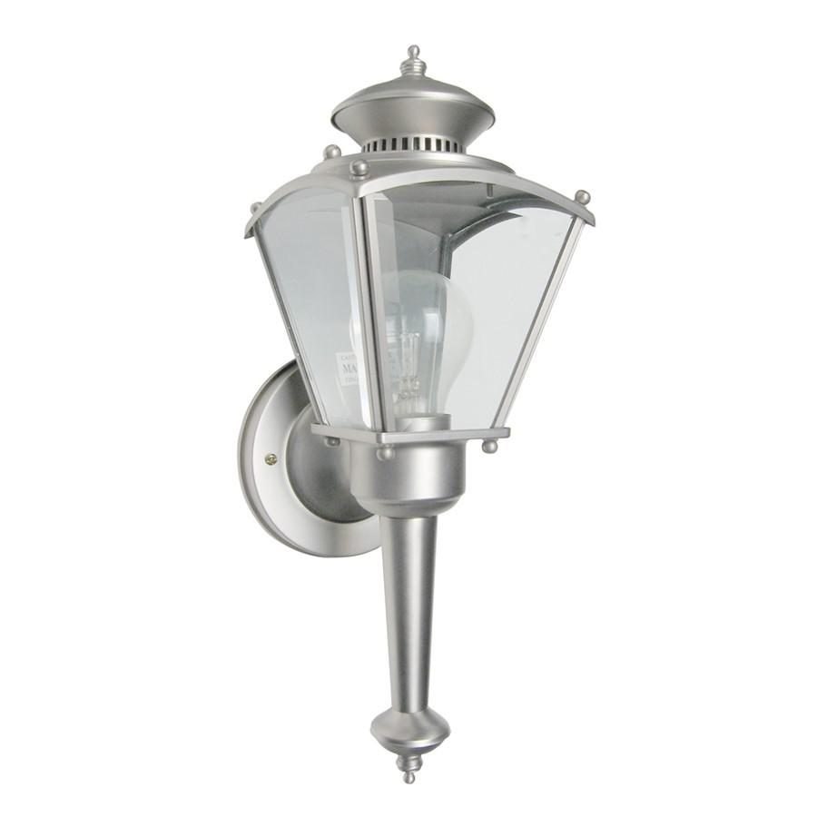"Designers Fountain Beveled Glass Lantern 5"" Wall Lantern, Pewter"