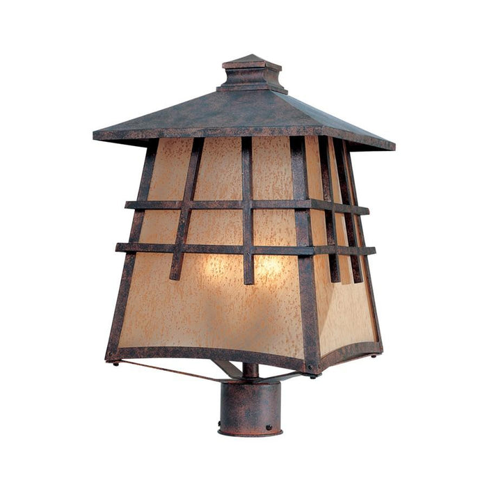 "Designers Fountain Oak Park 12"" Post Lantern, Mediterranean Patina"