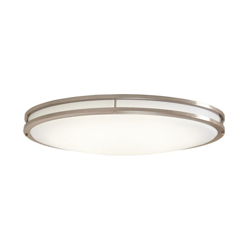 "Designers Fountain 32"" LED Oval Flushmount, Nickel"
