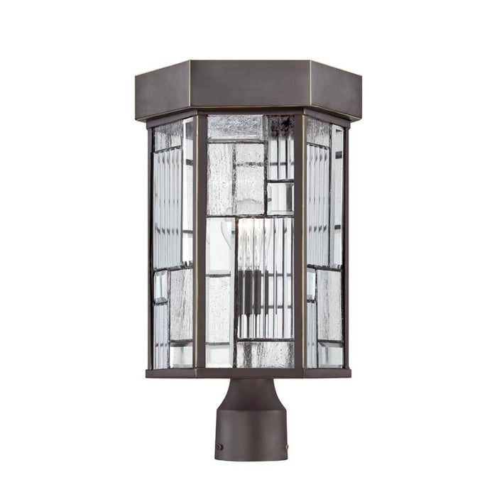 "Designers Fountain Kingsley 10"" Post Lantern, Aged Bronze Patina"