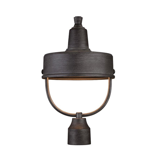 "Designers Fountain Portland Dark Sky 11"" Post Lantern, Weathered Pewter"