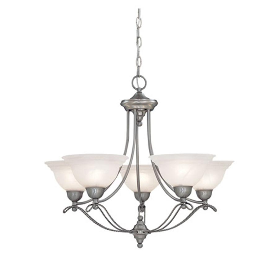 Designers Fountain Palladium 5 Light Chandelier, Pewter