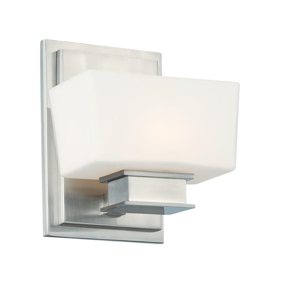 Designers Fountain Geneva Wall Sconce, Satin Platinum