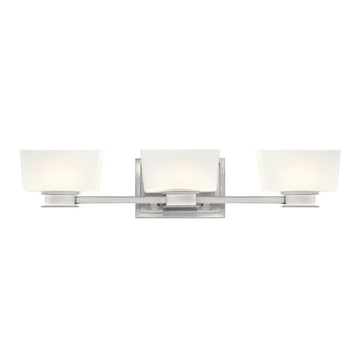Designers Fountain Geneva Bathroom Lighting, Satin Platinum
