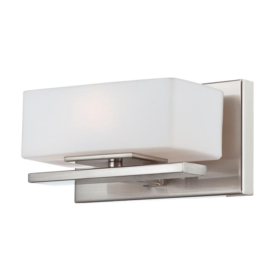 Designers Fountain Meridian Wall Sconce, Satin Platinum