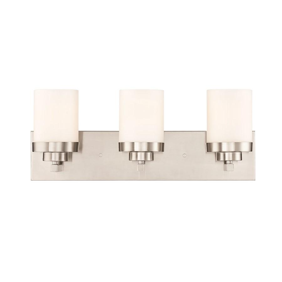 Designers Fountain Kaden Bathroom Lighting, Satin Platinum