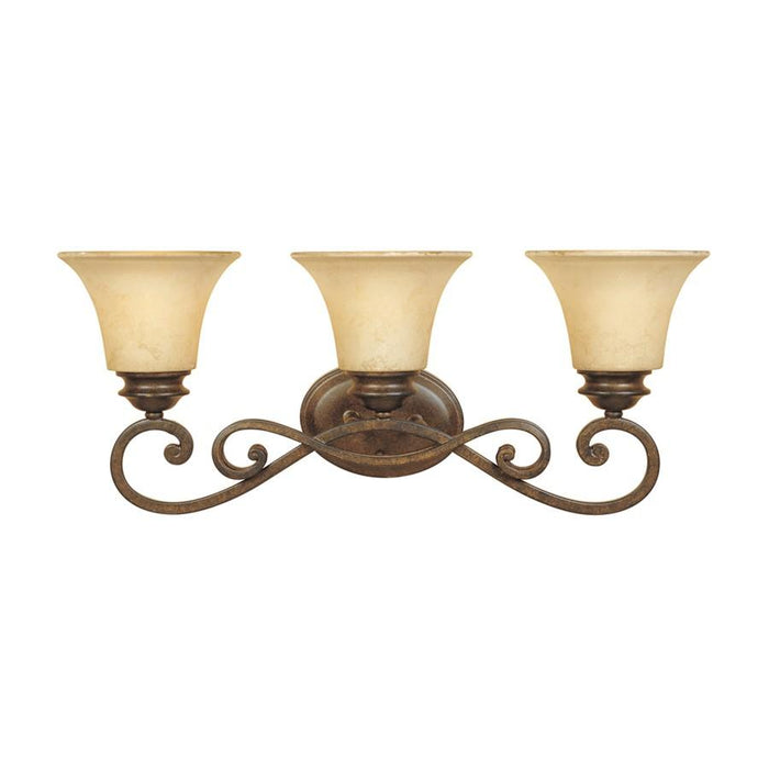 Designers Fountain Mendocino Bathroom Lighting, Forged Sienna