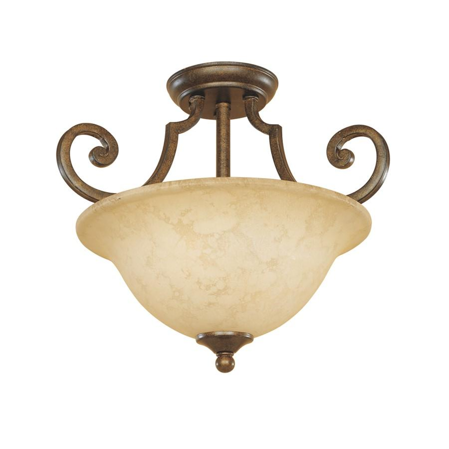 Designers Fountain Mendocino Semi Flush, Forged Sienna