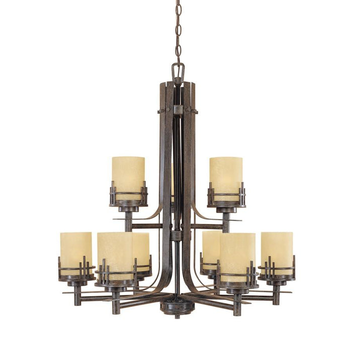 Designers Fountain Mission Ridge Chandelier, Warm Mahogany
