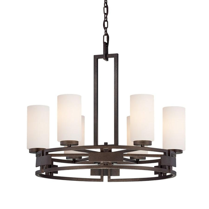 Designers Fountain Del Ray 4 Light Chandelier, Flemish Bronze