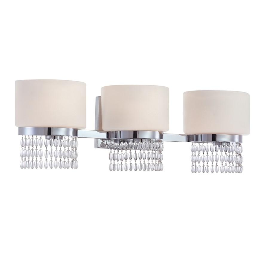 Designers Fountain Candence Bathroom Lighting, Chrome