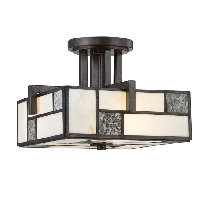 Designers Fountain Bradley Semi Flush, Charcoal