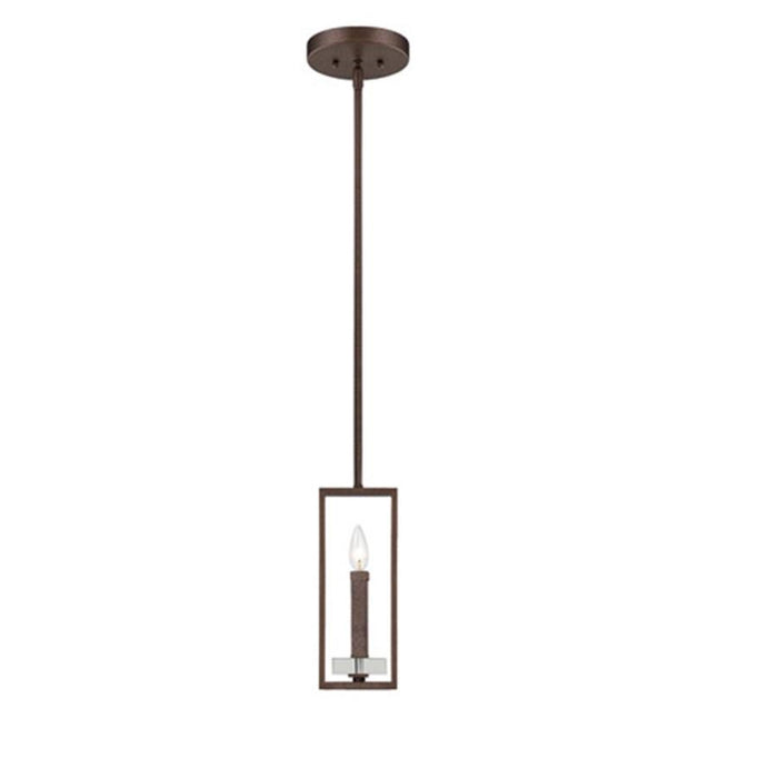 Designers Fountain Fieldhouse Mini Pendant, Flemish Bronze