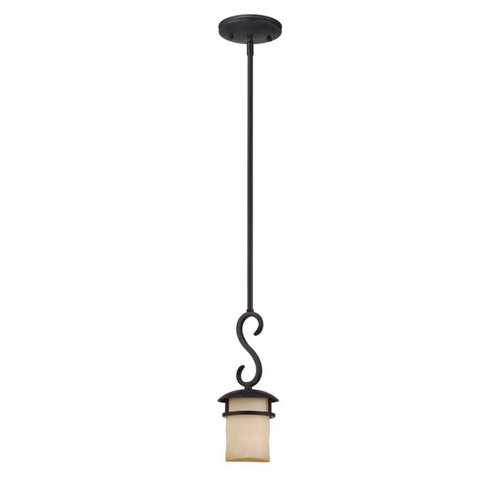 Designers Fountain Lauderhill Mini Pendant, Natural Iron